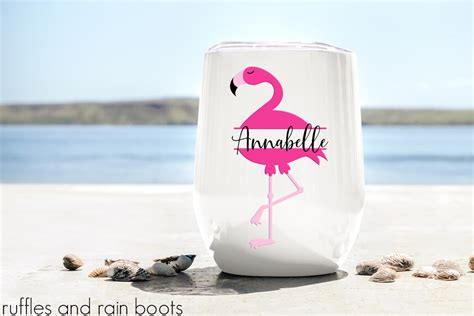 Don't you just love the colors of flamingos? Flamingo Monogram SVG for Cricut and Silhouette - Ruffles ...