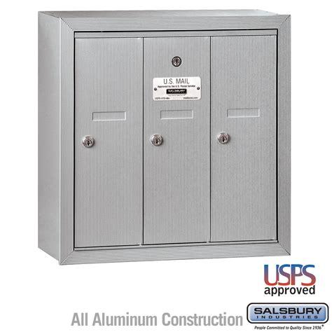 locking mailbox residential usps approved salsbury industries 3503asu 3 door vertical mailbox