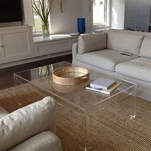 Clear acrylic coffee table diy furniture pinterest for Clear lucite acrylic coffee table