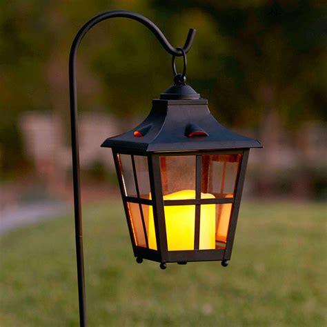 outdoor lantern lights carriage battery garden lantern with crook lights4fun co uk