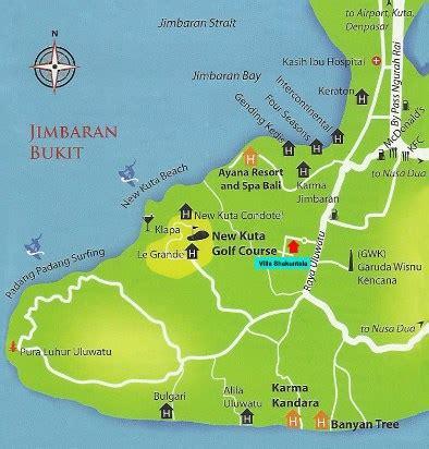 jimbaran beach map indonesia tourism
