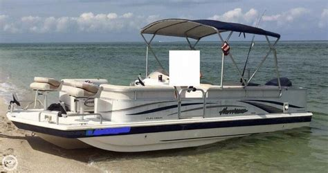 Deck Boat Fishing Package by 2006 Used Hurricane 226re Deck Fishing Deck Boat For