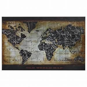 Decoration Murale Carte Du Monde : atelier d coration murale avec carte du monde tableaux et cadres d cor mural magasinez par ~ Teatrodelosmanantiales.com Idées de Décoration
