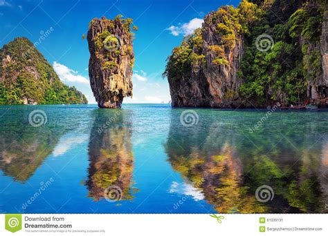 Beautiful Nature Of Thailand James Bond Island Reflection