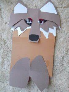 59 paper bag puppets guide patterns With wolf puppet template