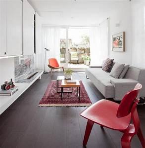 Tapis Salon Blanc : tapis persan dans le salon contemporain en 33 exemples ~ Teatrodelosmanantiales.com Idées de Décoration