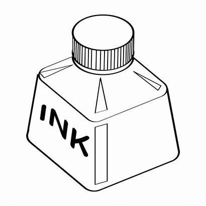 Ink Bottle Vector Drawing Line Cartoon Sketch