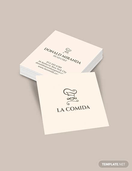 square business card templates psd word pages