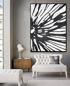 Huge abstract painting on canvas vertical