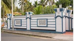 Wall design ? kerala house compound designs photos