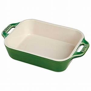 Buy Staub 4 75-Quart Rectangular Baking Dish in Basil from