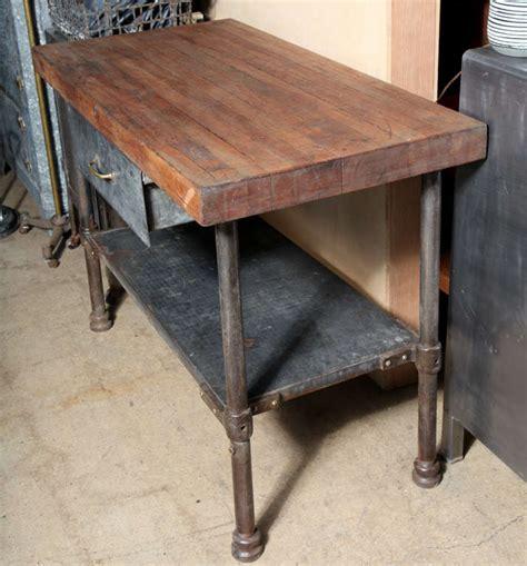 vintage industrial kitchen work table  stdibs