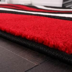 Teppich Rot Grau Schwarz : designer teppich mit konturenschnitt wellen muster rot ~ Bigdaddyawards.com Haus und Dekorationen