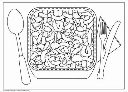 Cheese Mac Macaroni Coloring Drawing Pages Template