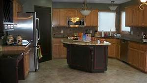 U Shaped Kitchen Designs With Oak Cabinets Mixed White