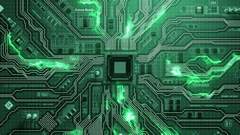 Computer Circuit Board Blue Loopable Background Stock