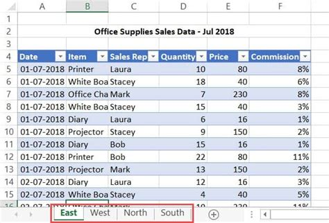 combine data  multiple worksheets   single