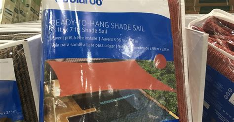 coolaroo ready to hang shade sail 13 x 7 costco