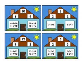 grade school box fact family cards