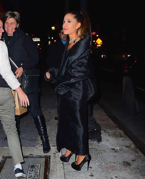 Ariana Grande Leaving An Snl Cast Dinner 12 Gotceleb
