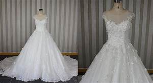 style lw158 hand beaded lace applique wedding gown With hand beaded wedding dresses