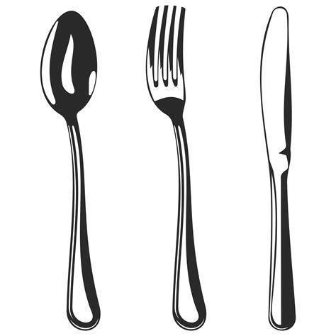 fork and knife clipart black and white cutlery clipart spoon fork pencil and in color cutlery