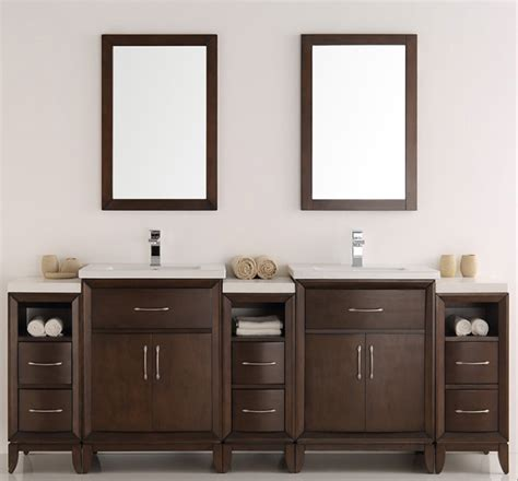antique coffee double sink traditional bathroom vanity