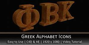 greek alphabet 3d icons by alphazebra 3docean With greek letters for sale