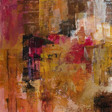 modern painting daily painters abstract gallery fuchsia gold by california artist nancy eckels abstract