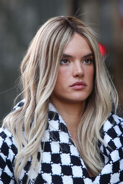 Blond E Hair And by Alessandra Ambrosio Blond Hair March 2016