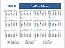 2017 Fiscal Year Calendar Template UK Free Printable