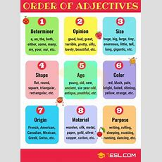 Order Of Adjectives In English Useful Rules & Examples  Self Improvement  English Adjectives