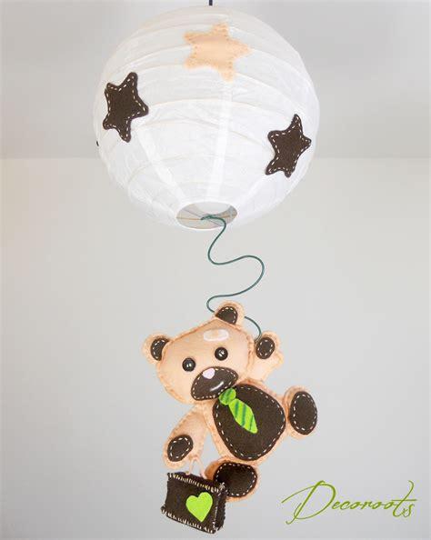 abat jour chambre bébé lustre suspension enfant bébé l 39 ours tominette enfant