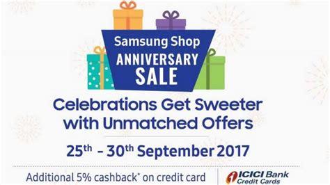 samsung shop anniversary sale offers discounts cashback