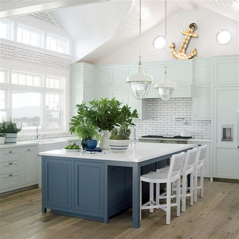 white  blue california kitchen  star beach house