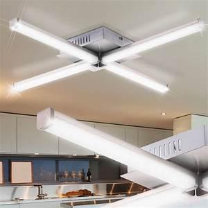 Led Beleuchtung Büro : led luxus decken leuchte st be design beleuchtung flur b ro lampe chrom licht ebay ~ Markanthonyermac.com Haus und Dekorationen