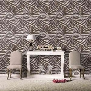 Papier Peint Trompe Oeil Castorama : papier peint vinyle sur intiss z bre chocolat brillant castorama ~ Preciouscoupons.com Idées de Décoration