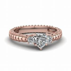 best of rose gold heart shaped engagement ring With shaped diamond wedding rings