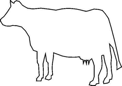 cow template 31 best images about coloring farm stuff on a cow stencils and safety
