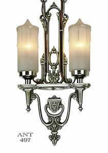 Vintage hardware lighting art deco antique candle