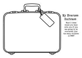 evacuee suitcase  lm teaching resources