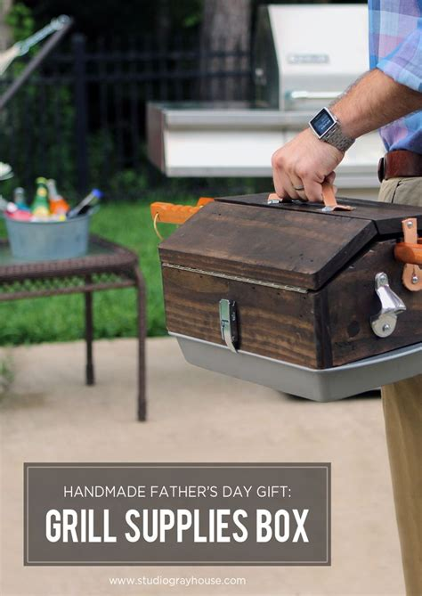 handmade grill supplies box outdoor grilling fathers