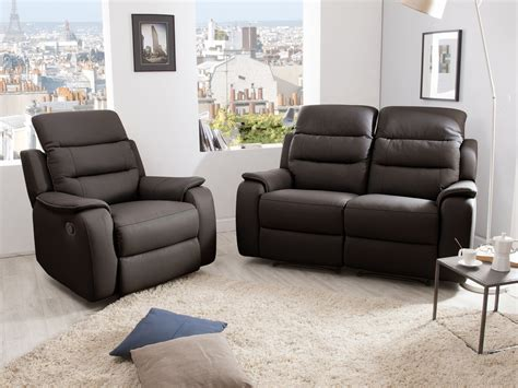 canapes relax ensemble canapé 2 relax manuel 2 places fauteuil relax