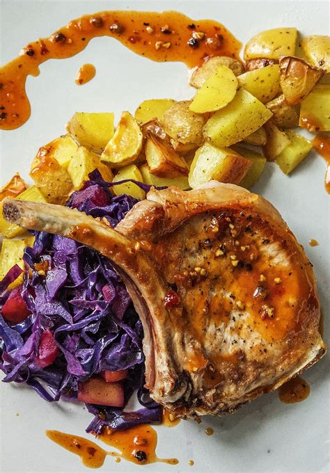 Then rub half of the sauce on the pork chops. Bone-In Pork Loin Chops Recipe | HelloFresh | Recipe ...