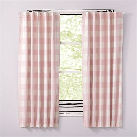 Land Of Nod Blackout Curtains by Pink Buffalo Check Curtain The Land Of Nod