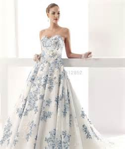 royal blue and white wedding dresses aliexpress buy strapless sweetheart low back gown lace royal blue and white wedding
