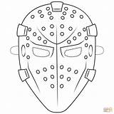 Goalie Mask Coloring Pages Template Hockey Printable Supercoloring Masks Halloween Pass Paper Drawing Mrs Please Drama Styles sketch template