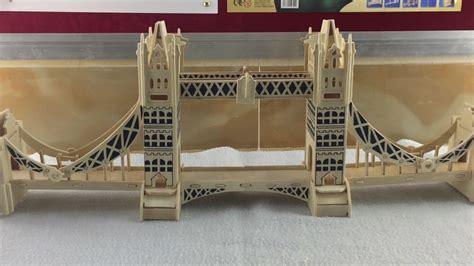 diy miniature london tower bridge  wood craft