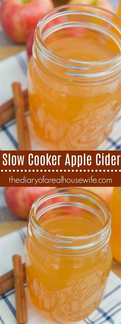 cider apple slow cooker thediaryofarealhousewife crockpot fall recipe homemade