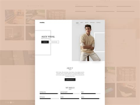 personal portfolio template free alex personal portfolio resume template freebie photoshop resource psd repo